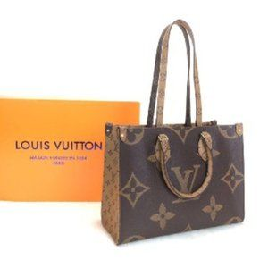 %100 AUTH LEATH Louis Vuitton Onthego MM Canvas M